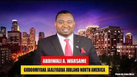 Waraysi Guddoomiyaha Jaaliyadda Jubaland ee Waqooyiga Ameerika