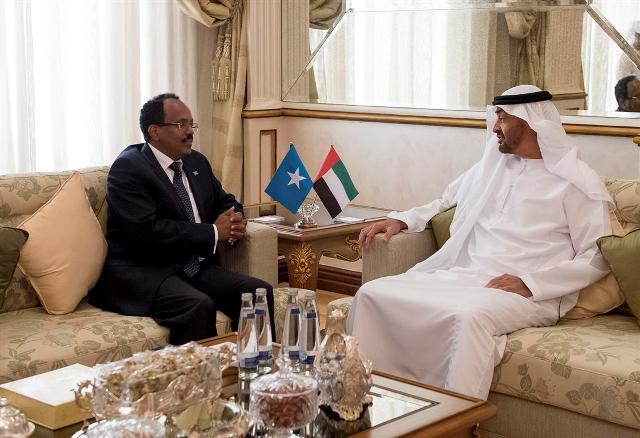Madaxweyne Farmaajo oo Kulan La Qaatay Shiikh Mohammed Bin Zayed Al Nahyan