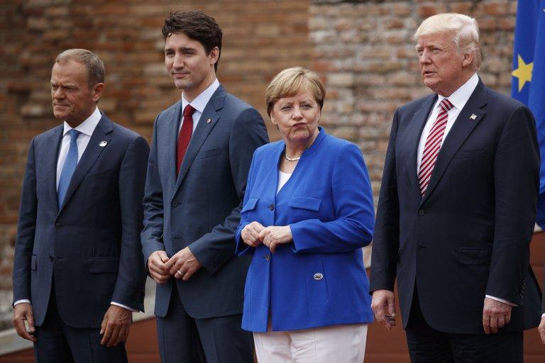 Shirkii G7 iyo Masawiro lala Anfariiray oo Donald Trump (Sawirro)