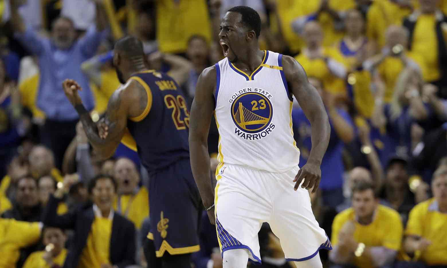 Golden State Warriors oo Cayaartii 1aad Burburiyey LeBron James iyo Cavaliers