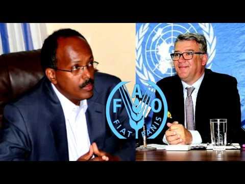 Madaxweyne Farmaajo oo Wadanka Ka Cayriyey Madixii FAO ee Soomaaliya
