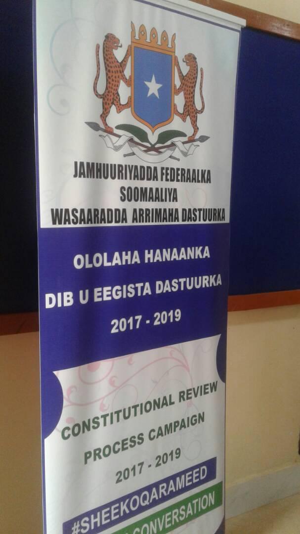 Shirka Wadatashiga Dib-u-eegista Dastuurka Soomaaliya oo Garoowe ka Furmay (dhegayso)