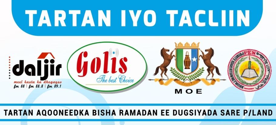 Warbixinta Tartan & Tacliin: Bursaalax Sare fkf Boocame Secondary iyo Waliba …
