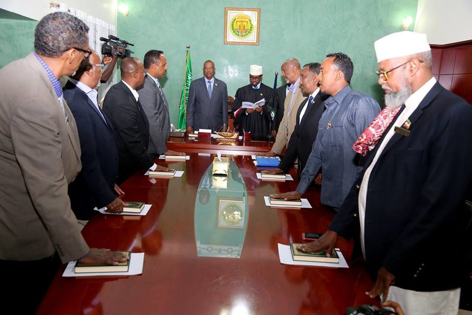 Golaha wasiirada cusub ee Somaliland oo markii labaad la dhaariyay