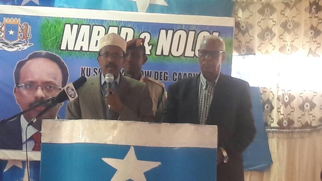 Madaxweyne Farmaajo oo Kulamo la qaatay Bulshadda Caabudwaaq (dhegayso+Sawiro)