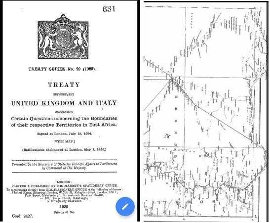 Jubaland Treaty of 1924 Between United Kingdom and Italy