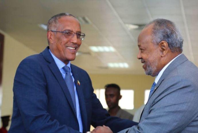 Madaxweynah Somaliland Muuse Bixi oo la kulmay Madaxweynaha Jabuuti