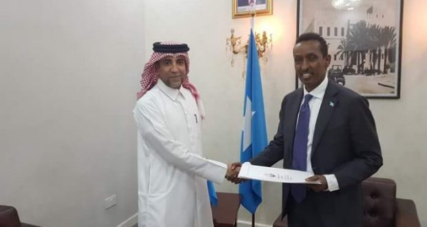 Wasiirka Arrimaha Dibadda DFS oo kulan la qaatay Siihayaha Safaaradda Qatar ee Somaaliya