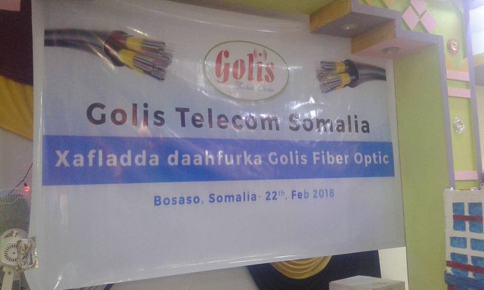 Shirkadda Golis oo maanta daahfurtay Adeega internetka Fiber Optic (dhegayso/Sawiro)