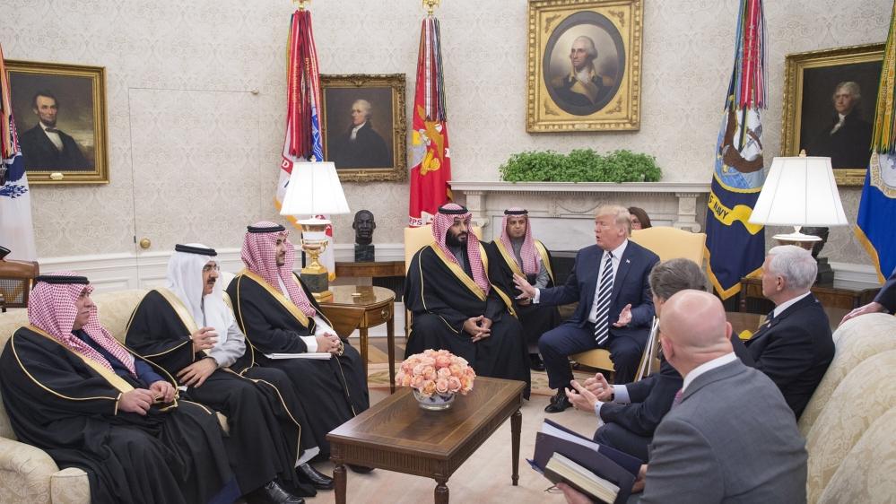 Trump iyo Maxamed Bin Salmaan oo ku kulmay Aqalka Cad