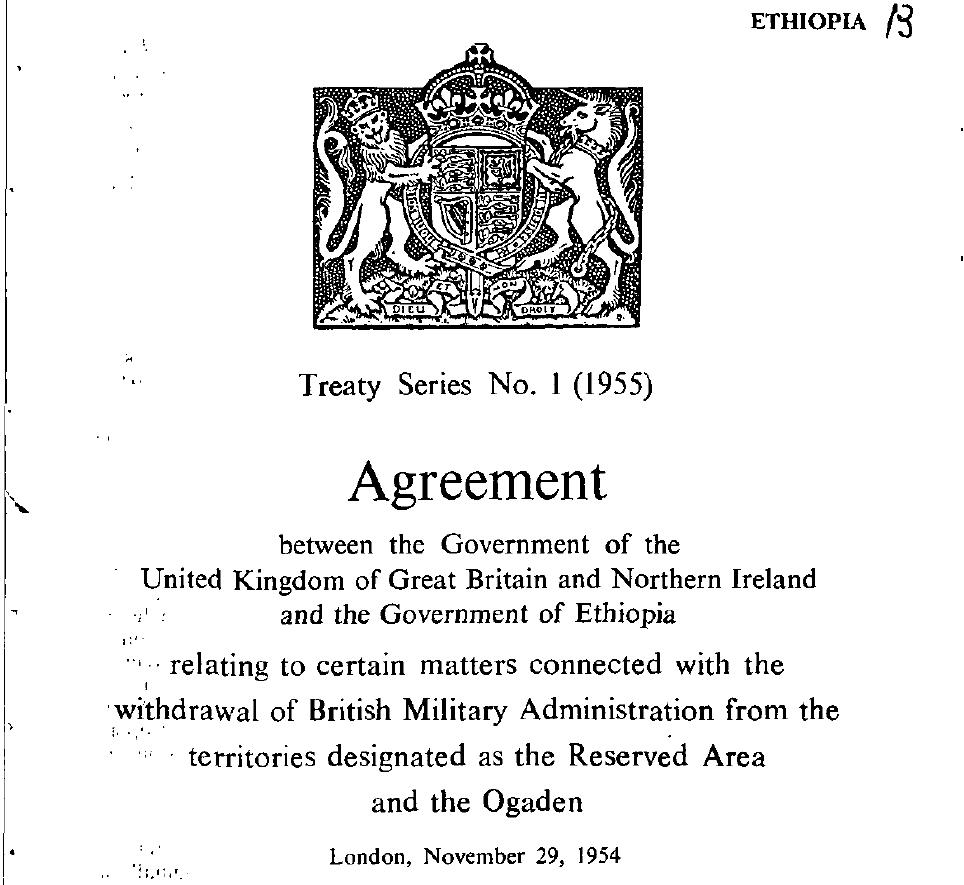 Treaty Series No  1 (1955): Agreement between UK and
