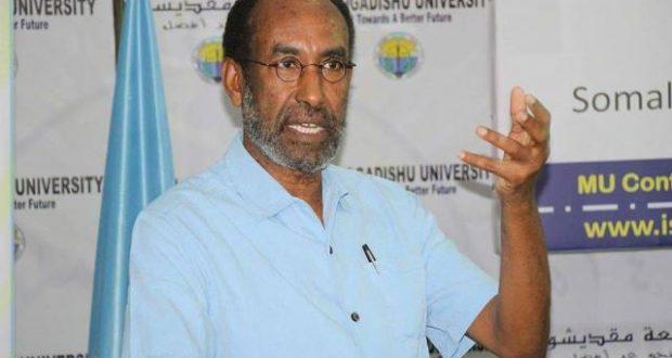 Prof:  Cabdi Ismail Samatar oo ka hadlay Khilaafka Barlamaanka