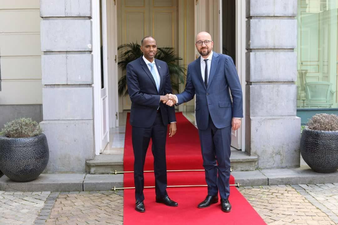 Ra'iisul Kheyre iyo dhigiisa dalka Belgium oo ku kulmay Brussels