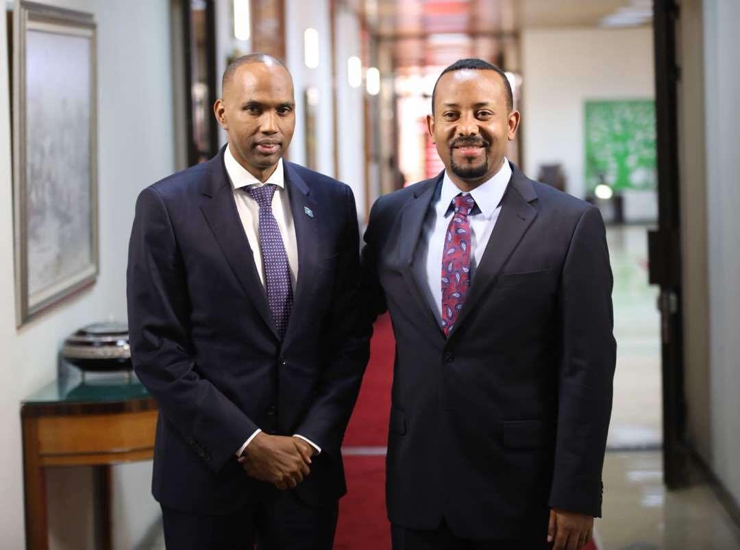 Ra'iisul Wasaare Khayre oo Addis Ababa kula kulmay dhiggiisa Ethiopia