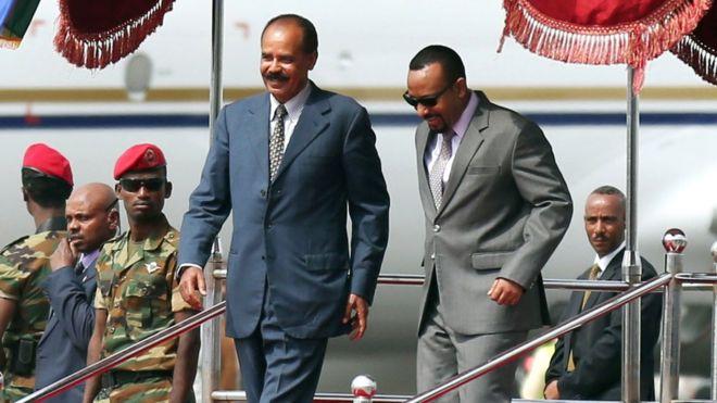 Hogaamiyaasha dalalka Ethiopia iyo Eritrea oo booqanaya Koofurta Sudan
