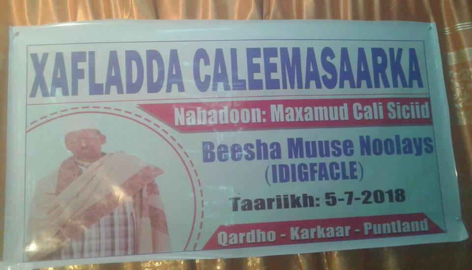 Nabadoon lagu caleema saaray Magaaladda Qardho (dhegayso)