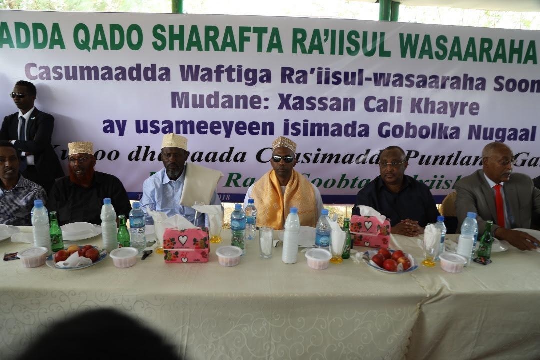 Issimadda Puntland oo qado Sharaf u sameyaay Wafdiga RW khayre (Sawiro)