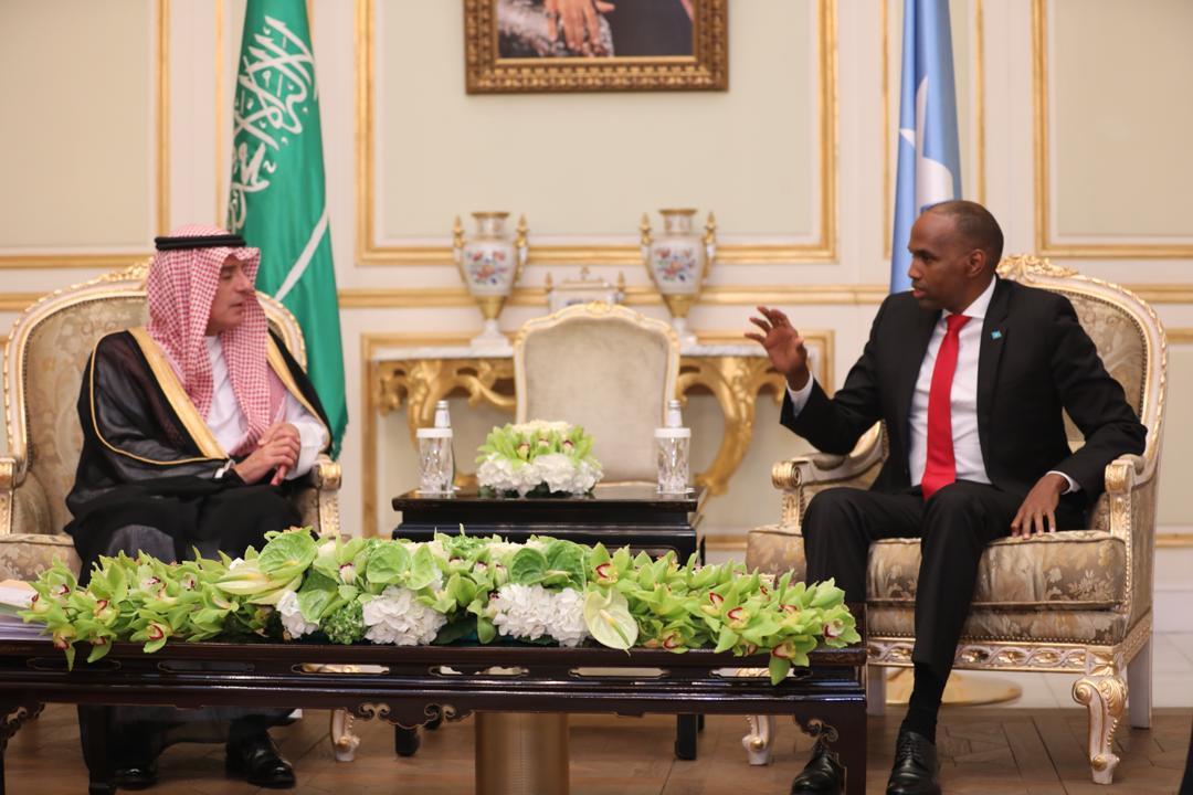 Ra'iisul Wasaare Khayre Oo Kulan La Qaatay Boqor Salmaan Bin Abdulaziz Al Saud