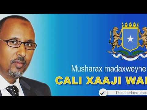 (LIVE ) MAANHADAL:  Musharax Madaxweyne Cali Xaaji Warsame