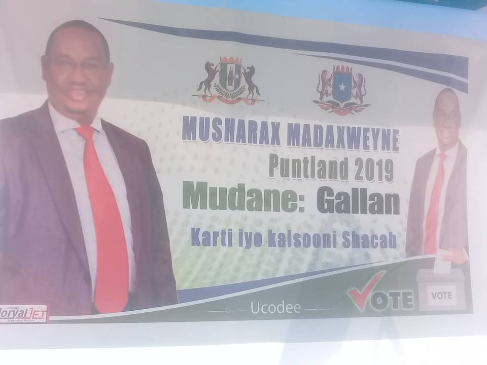 Musharaxa Madaxweyne Cabdisamad Maxamed Gallan oo Bossaso lagu soodhaweeyey (dhegayso   sawirro)