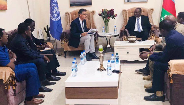 Madaxweynaha Koonfur galbeed oo la kulmay Wafdi ka socday UNSOM (Sawiro)