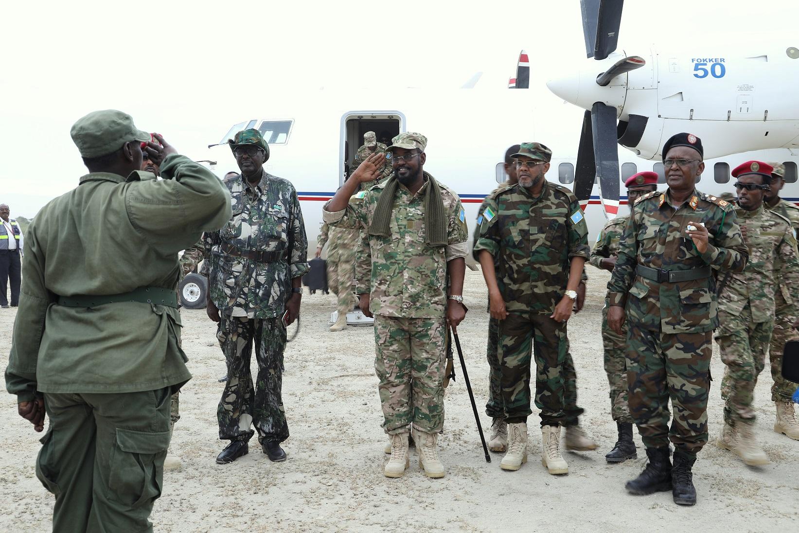 Axmed Madoobe oo gaaray Degmadda Afmadow (Sawiro)