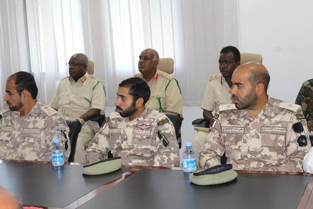 Saraakiil militariga Qatar katirsan oo ku sugan Muqdisho (sawiro)