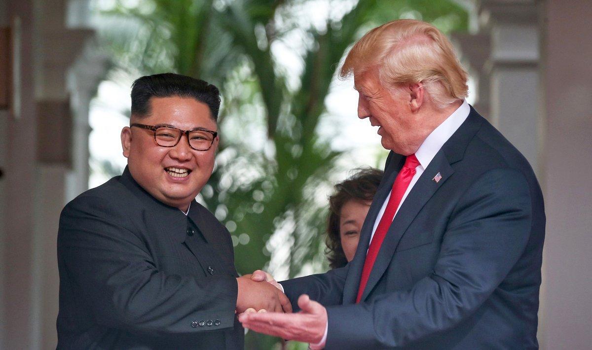 Madaxweyne Trump iyo Kim Jong-ung oo maanta ku kulmaya xadka labada Kuuriya