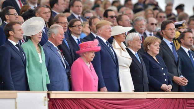 Trump, May iyo Macron oo ka qaybgalay xuska D-Day