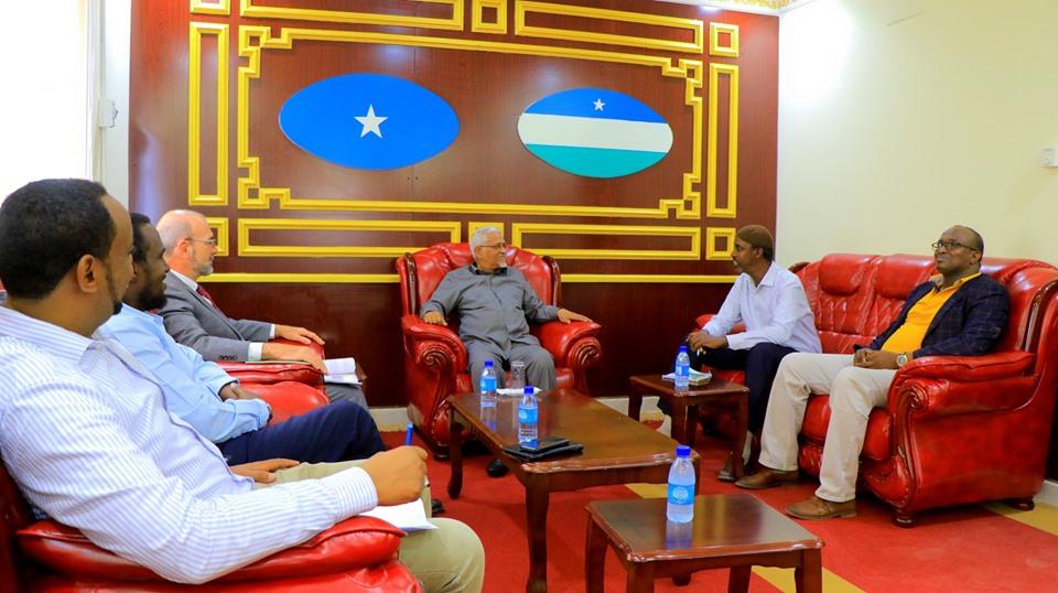 Madaxweyne Ku-xigeenka Puntland oo Kulan la qaatay Madaxa UNDP ee Soomaaliya.