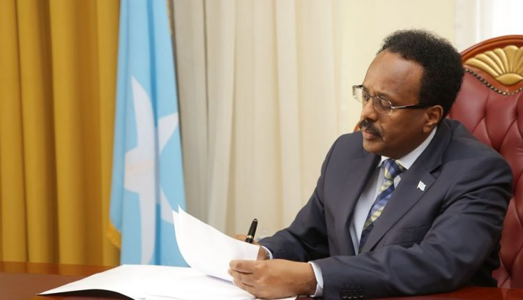 President Farmajo signs into law the Establishment Act of the Independent Anti-Corruption Commissions