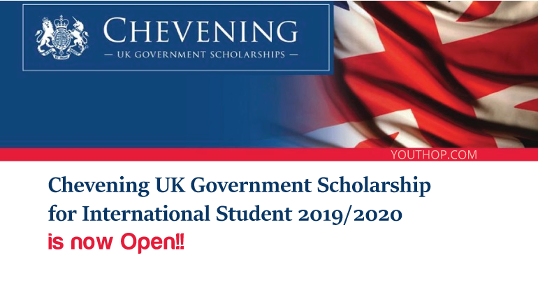 British Government scholarship: Chevening Scholarships – applications now open!