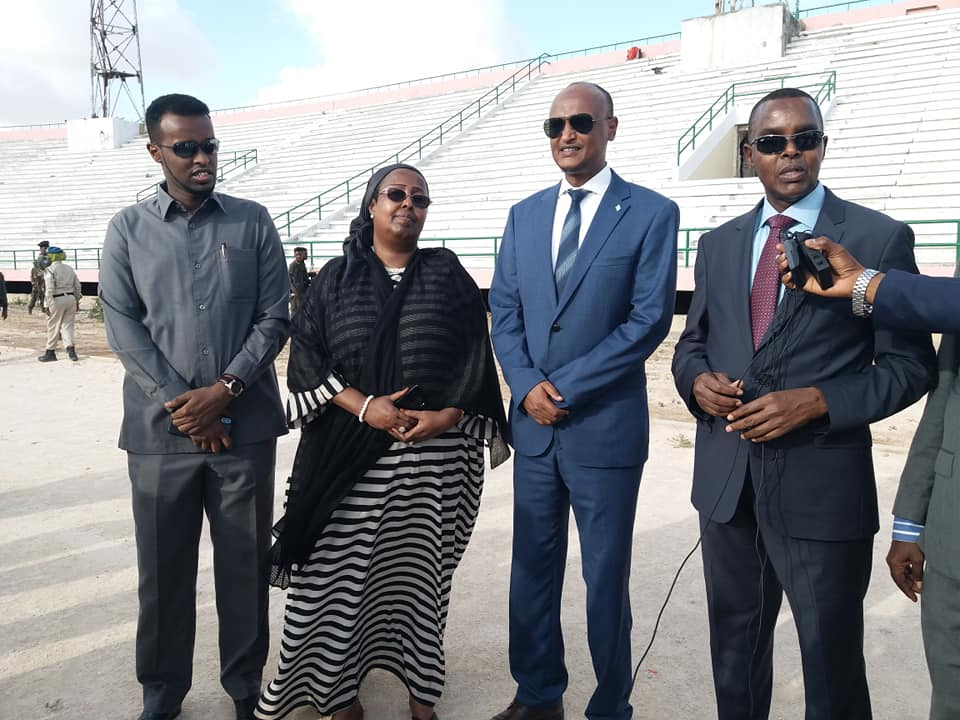 DFS oo ka hadashay inay Shabaab joojiyeen Dhismaha Garoonka Stadium Muqdisho.(Daawo)