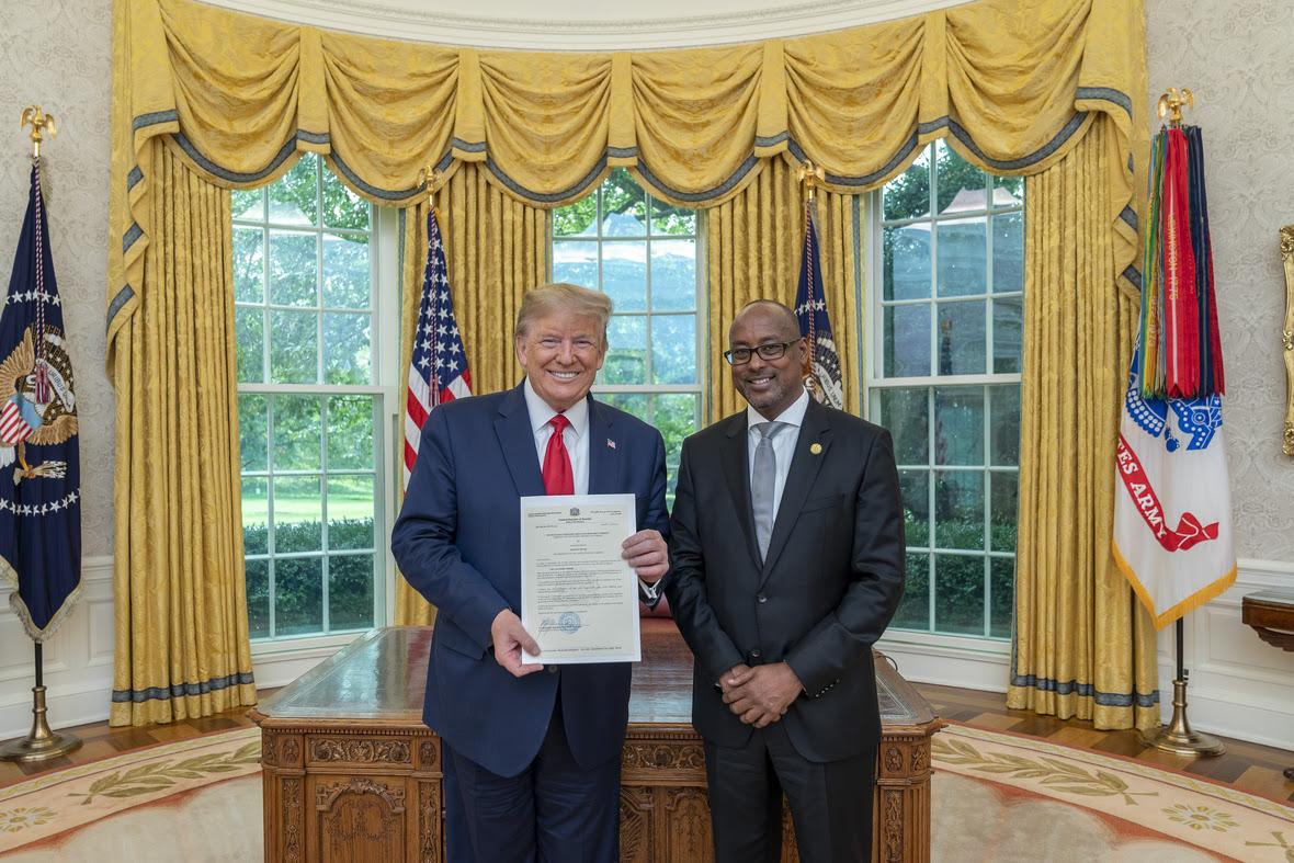 Press statement on Somalia's new ambassador to United States of America