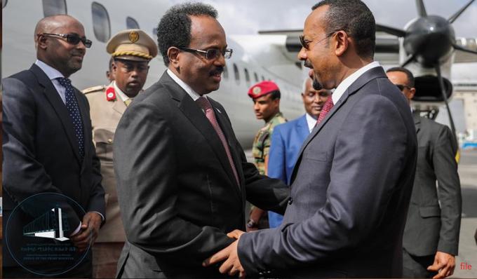 Madaxweyne Farmaajo oo  u dhoofay Addis-Ababa