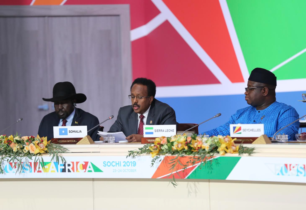 SPEECH DELIVERED BY H.E MOHAMED ABDULLAHI MOHAMED AT THE AFRICA-RUSSIA SUMMIT IN SOCHI