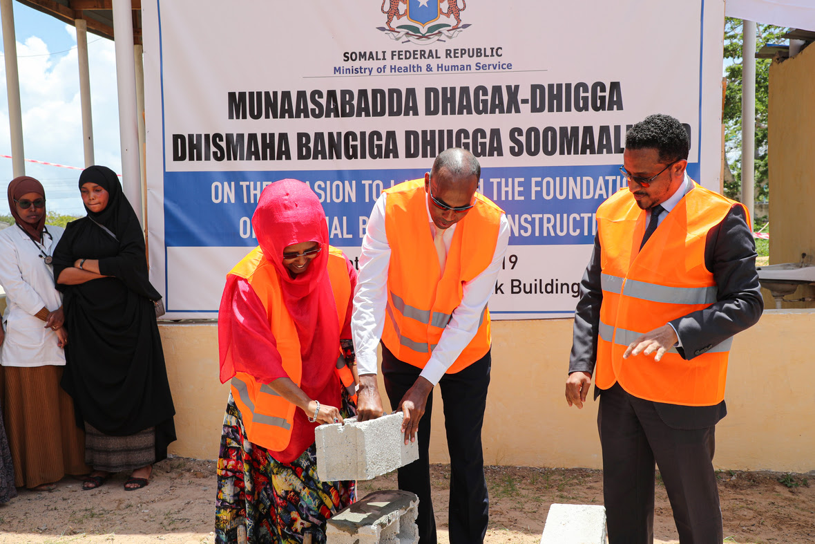 Somali Prime Minister Lays Foundation Stone For The Construction Of National Blood Bank Facility