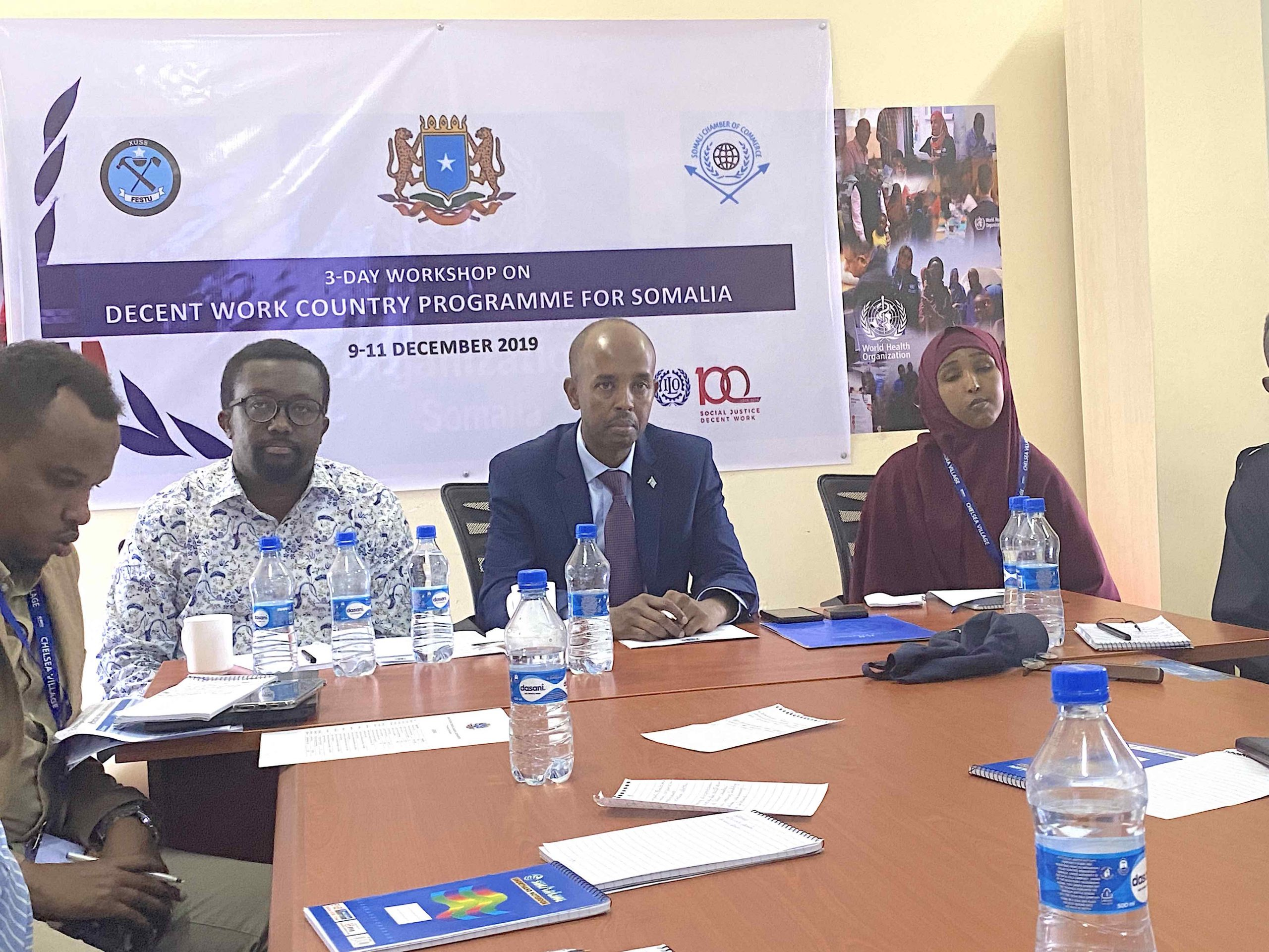 Somali Government, Employers and Workers agreed on priorities for Decent Work Country Programme