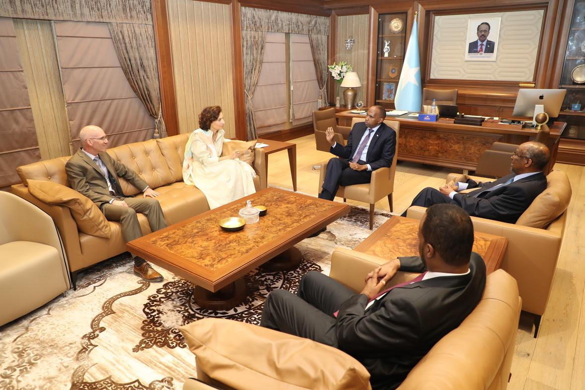 Ra'iisul Wasaare Khayre oo Xafiiskiisa Kula Kulmay agaasimaha Guud ee UNESCO, Audrey Azoulay