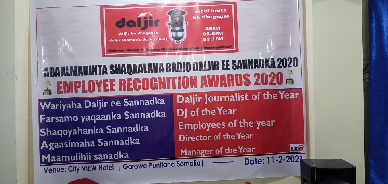 BARNAAMIJ GAAR AH: ABAALMARINTA SHAQAALAHA RADIO DALJIR EE SANADKA 2020 (daawo )
