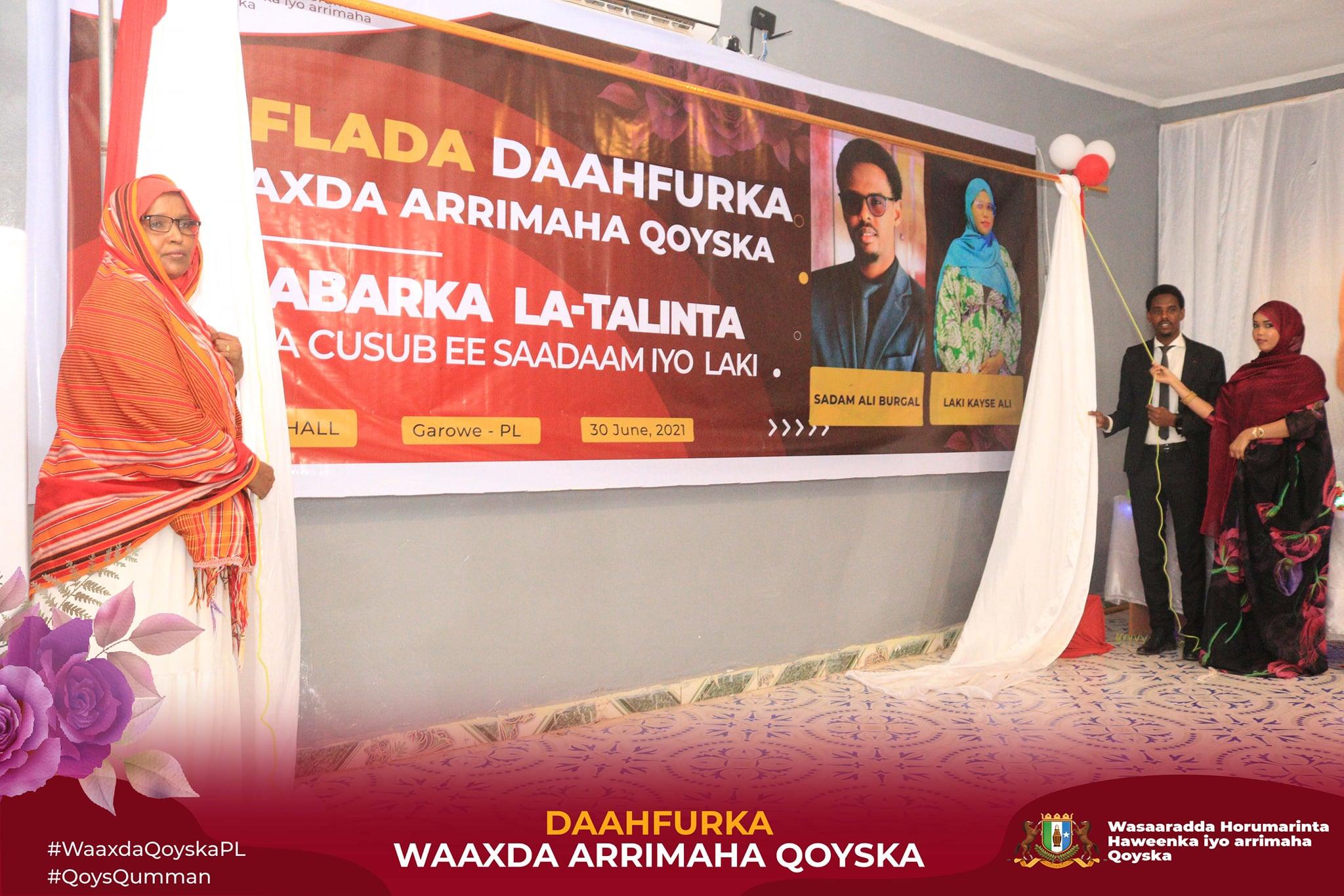 GAROWE: Wasaarada haweenka oo daahfurtay waaxda Arimaha Qoyska (daawo)
