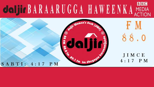 Daljir & BBCMA: BARAARUGGA Haweenka   (Taxanaha 93aad (dhegayso)